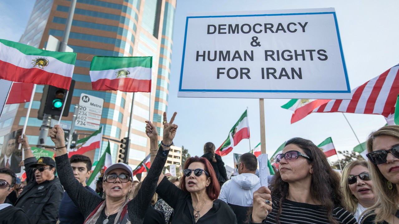 Thousands of people rally in support of Iranian anti-government protests in Los Angeles, California U.S. (Reuters)