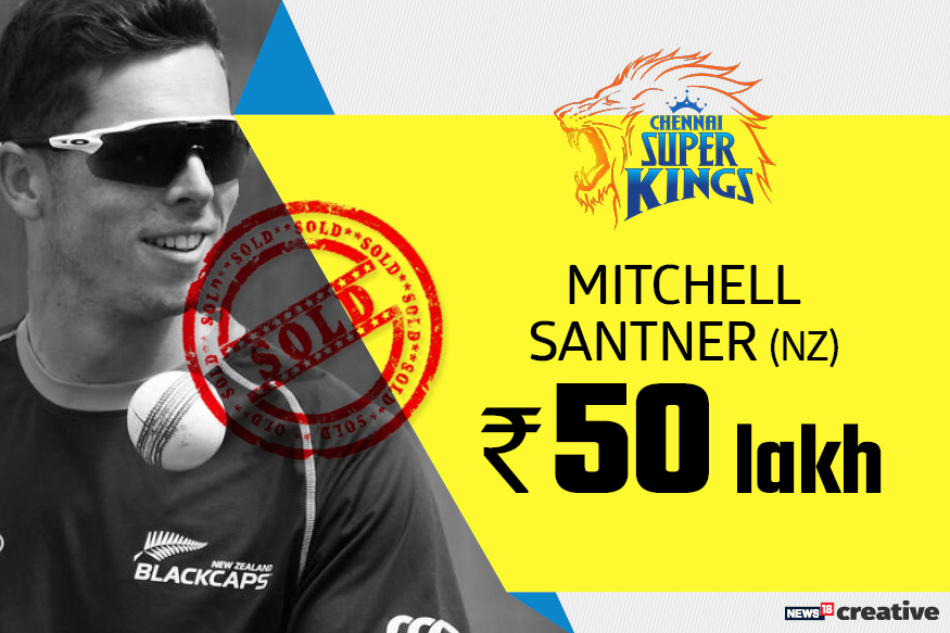 Mitchell Santner | Team: Chennai Super Kings | Sold for: Rs 50 lakh