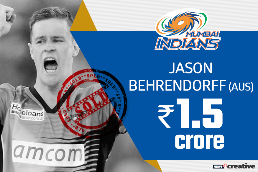 Jason Behrendorff | Team: Mumbai Indians | Sold for: Rs 1.5 crore
