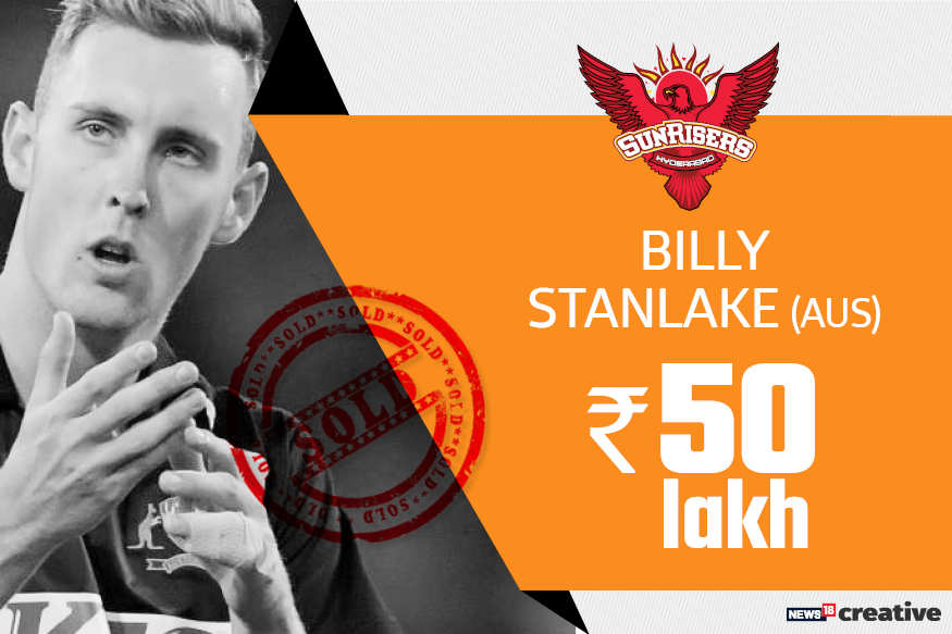 Billy Stanlake | Team: Sunrisers Hyderabad | Sold for: Rs 50 lakh