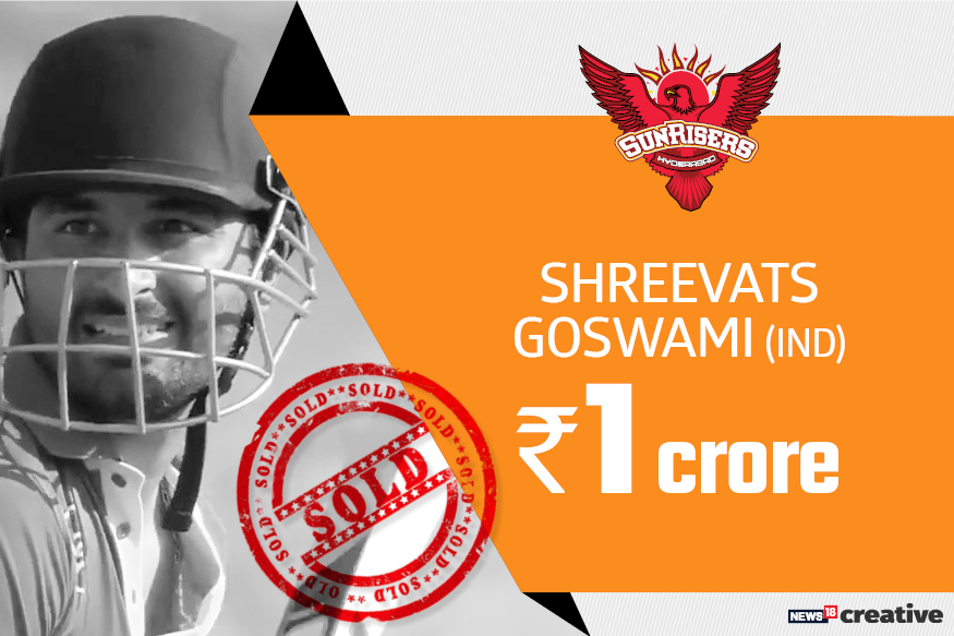 Shreevats Goswami | Team: Sunrisers Hyderabad | Sold for: Rs 1 crore