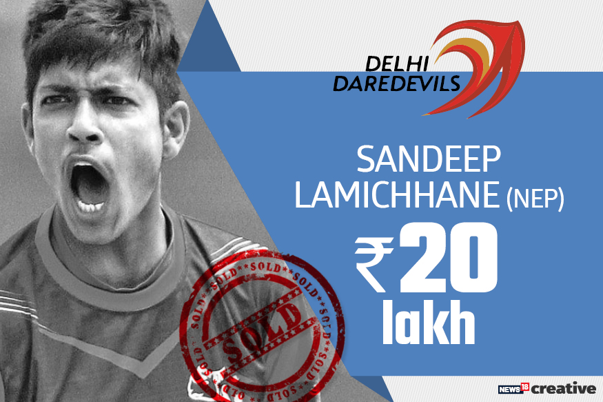 Sandeep Lamichhane | Team: Delhi Daredevils | Sold for: Rs 20 lakh