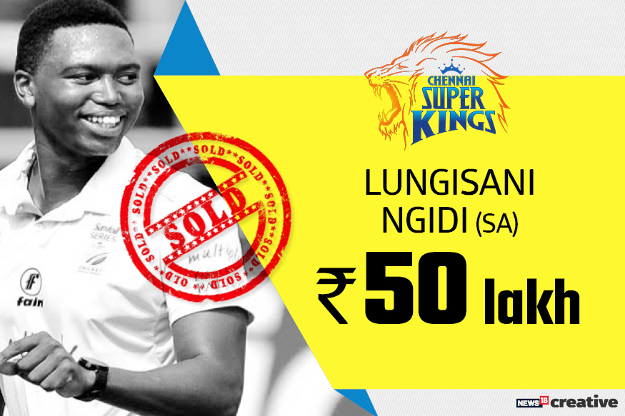 Lungisani Ngidi | Team: Chennai Super Kings | Sold for: Rs 50 lakh