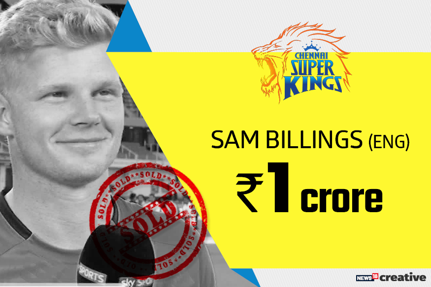 Sam Billings | Team: Chennai Super Kings | Sold for: Rs 1 crore