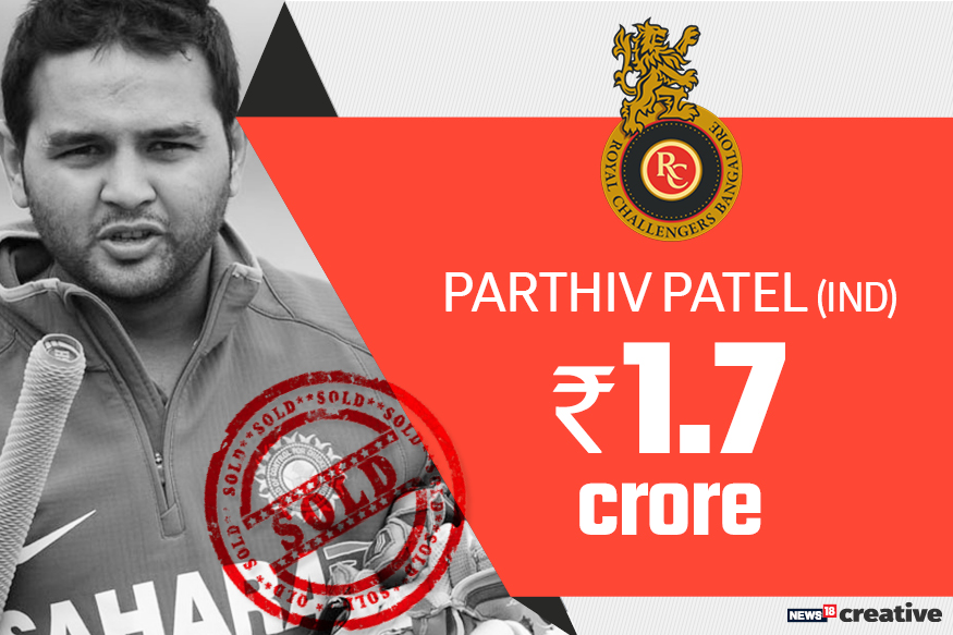 Parthiv Patel | Team: Royal Challengers Bangalore | Sold for: Rs 1.7 crore