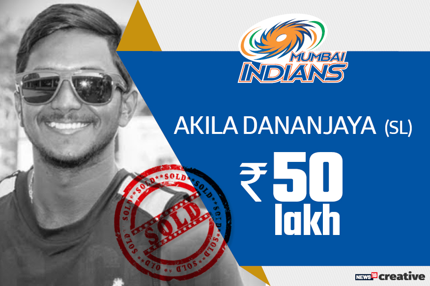 Akila Dananjaya | Team: Mumbai Indians | Sold for: Rs 50 lakh