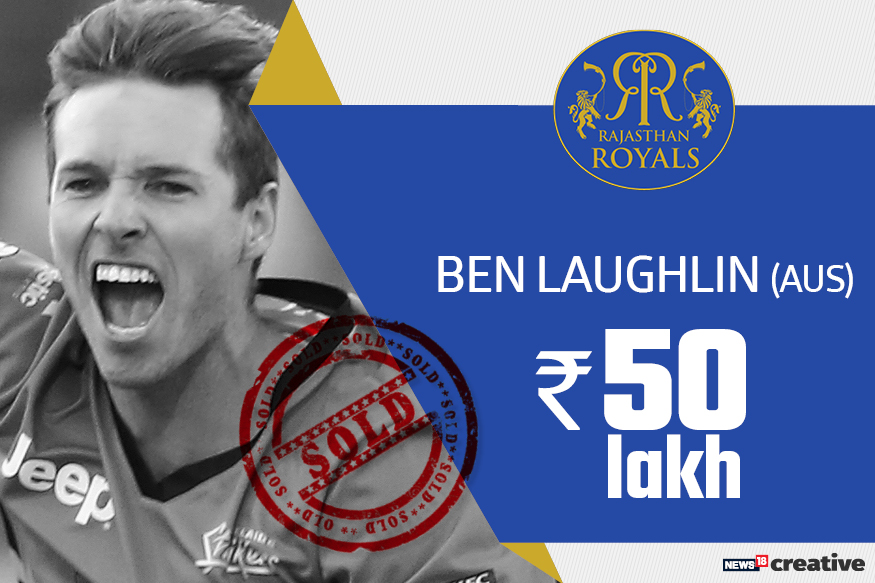 Ben Laughlin | Team: Rajasthan Royals | Sold for: Rs 50 lakh
