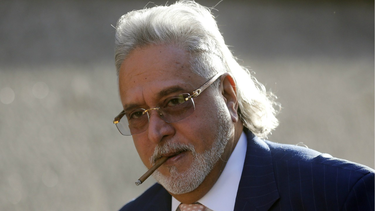 Vijay Mallya arrives at Westminster Magistrates Court in London. A New Delhi court has declared Mallya a proclaimed offender for failing to appear to answer allegations of money laundering by flouting foreign currency laws (AP)