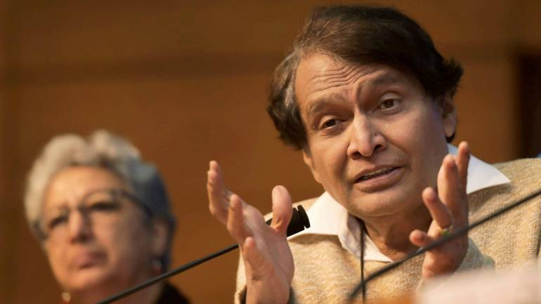 Commerce and Industry Minister Suresh Prabhu addresses a press conference, in New Delhi (PTI)