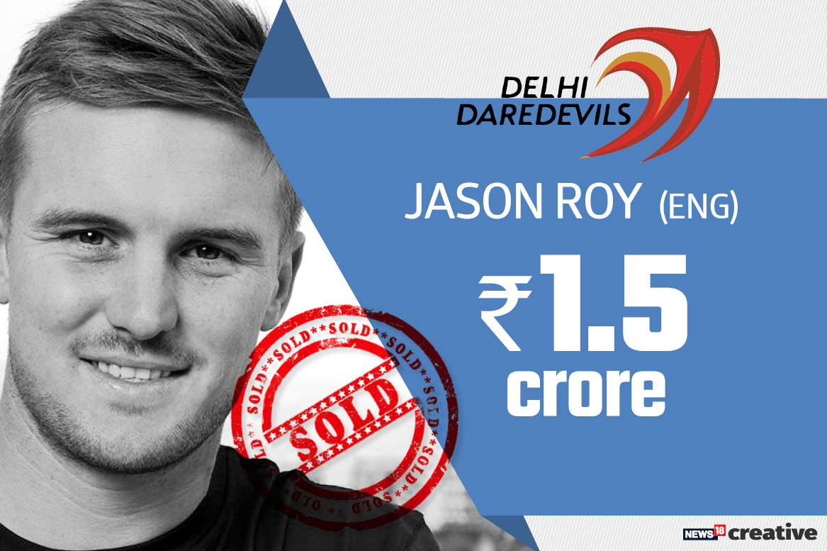 Jason Roy | Team: Delhi Daredevils | Sold for: Rs 1.5 crore