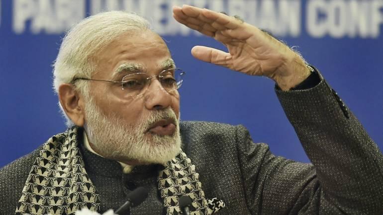 Prime Minister Narendra Modi addresses the inaugural session of first PIO Parliamentarian Conference in New Delhi. (PTI)
