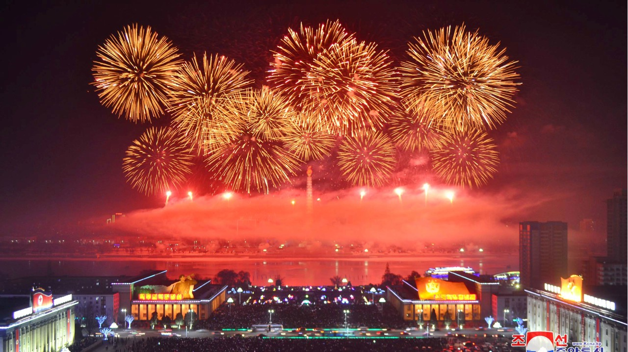 Fireworks are seen during New Year celebrations in this photo released by North Korea's Korean Central News Agency (KCNA) in Pyongyang (REUTERS)