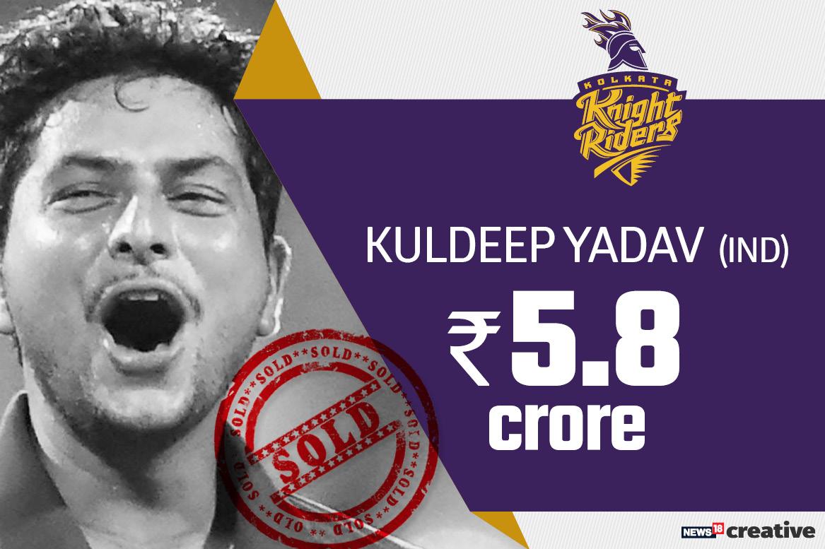 Kuldeep Yadav | Team: Kolkata Knight Riders | Sold for: Rs 5.8 crore