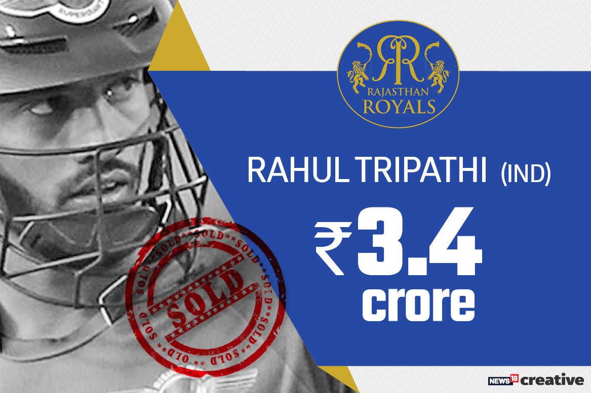 Rahul Tripathi | Team: Rajasthan Royals | Sold for: Rs 3.4 crore