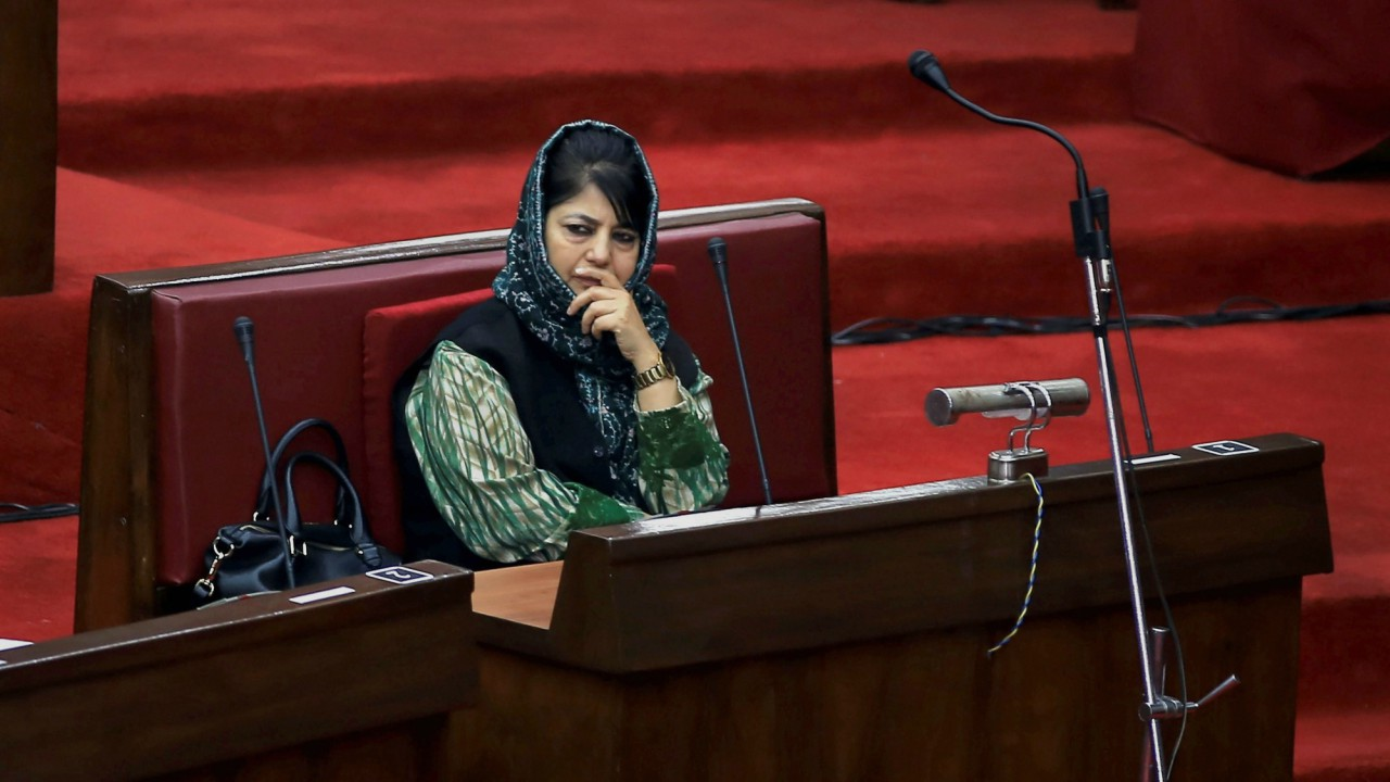Jammu & Kashmir Chief Minister Mehbooba Mufti Sayeed during the ongoing budget session of the assembly, in Jammu. (PTI)