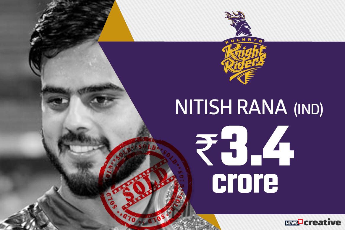 Nitish Rana | Team: Kolkata Knight Riders | Sold for: Rs 3.4 crore