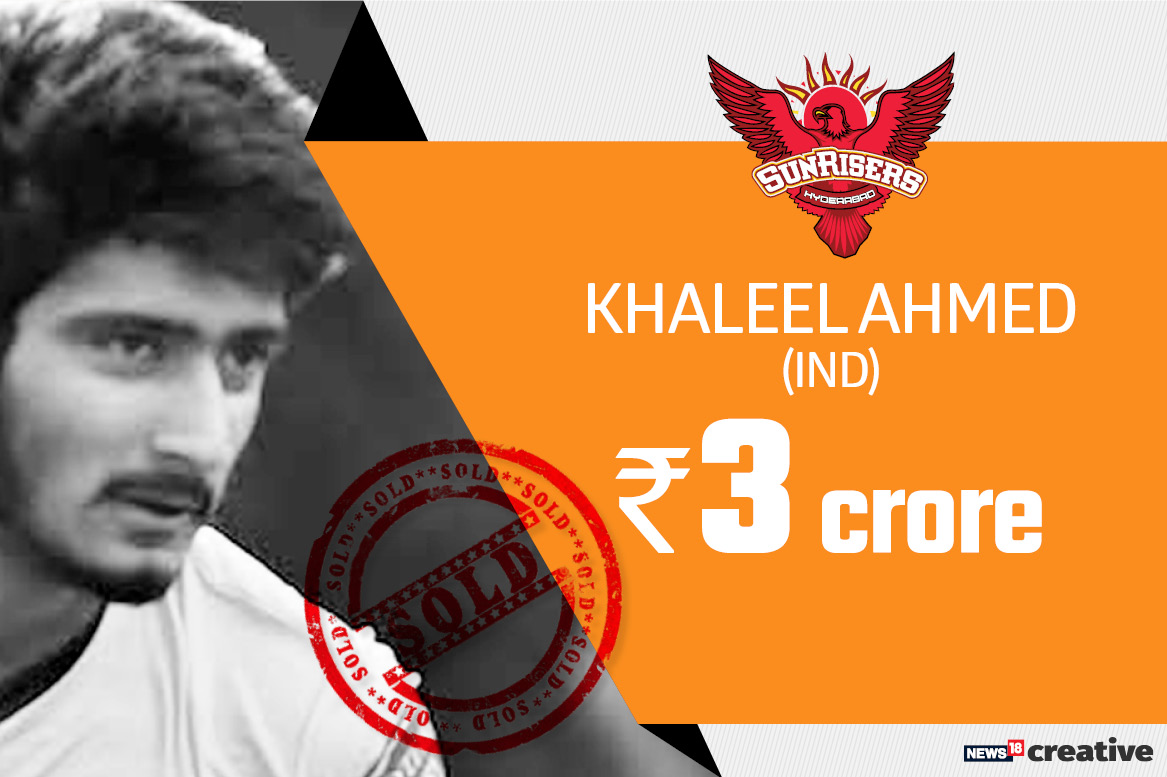 Khaleel Ahmed | Team: Sunrisers Hyderabad | Sold for: Rs 3 crore