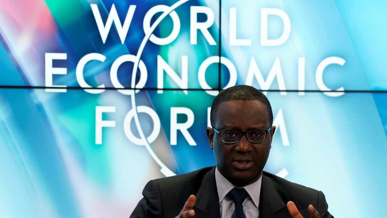 Tidjane Thiam, Chief Executive Officer of Credit Suisse, gestures as he attends the World Economic Forum (WEF) annual meeting in Davos, Switzerland (REUTERS)