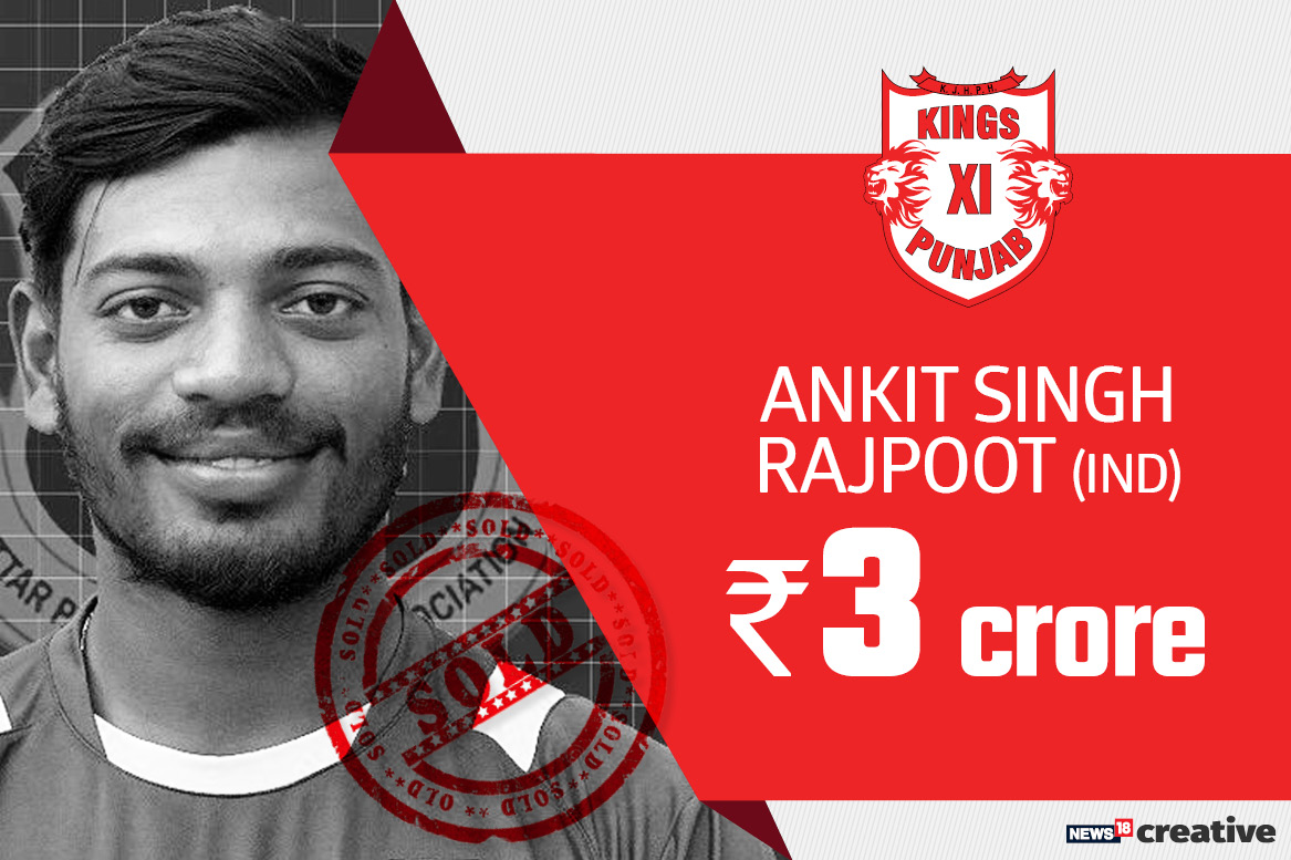 Ankit Singh Rajpoot | Team: Kings XI Punjab | Sold for: Rs 3 crore