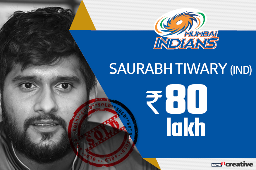 Saurabh Tiwary | Team: Mumbai Indians | Sold for: Rs 80 lakh