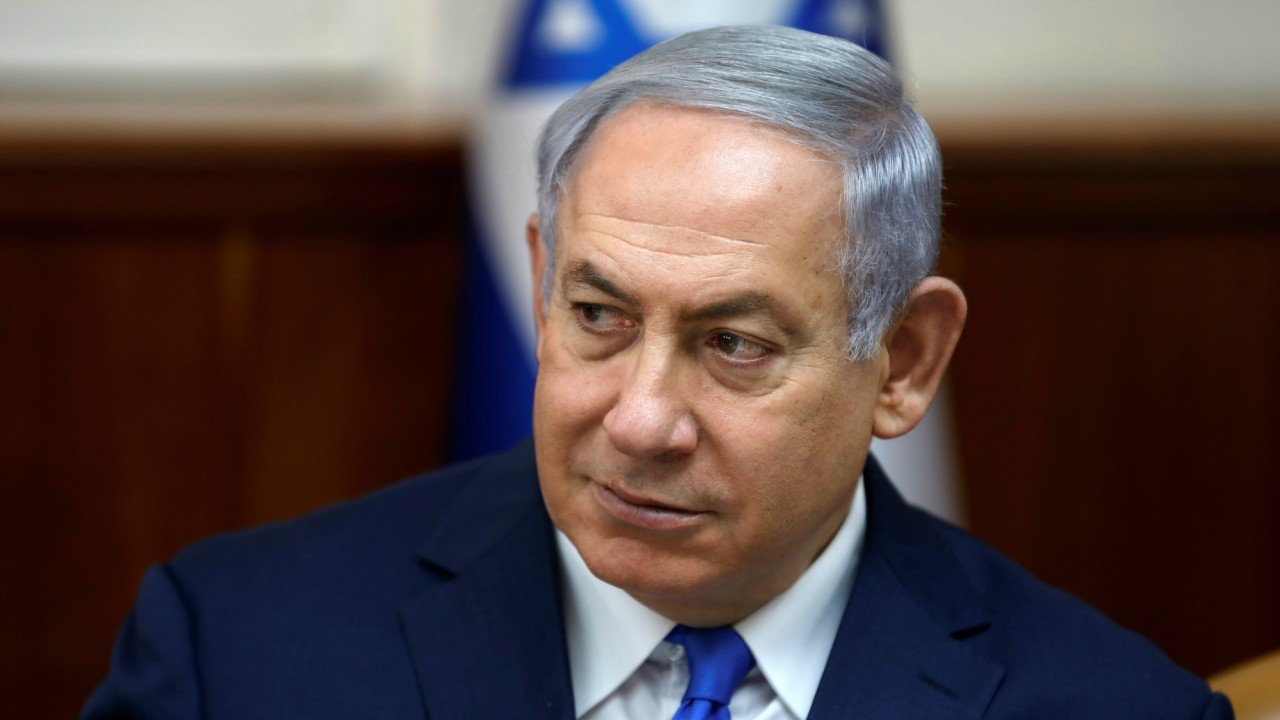 Israeli Prime Minister Benjamin Netanyahu attends a cabinet meeting at the Prime Minister's office in Jerusalem.  (REUTERS)
