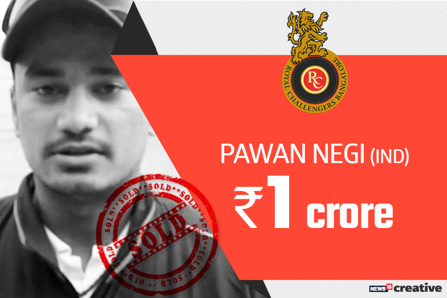 Pawan Negi| Team: Royal Challengers Bangalore | Sold for: Rs 1 crore