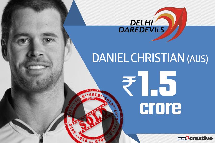 Daniel Christian| Team: Delhi Daredevils | Sold for: Rs 1.5 crore
