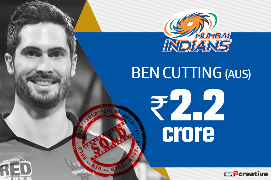 Ben Cutting| Team: Mumbai Indians | Sold for: Rs 2.2 crore