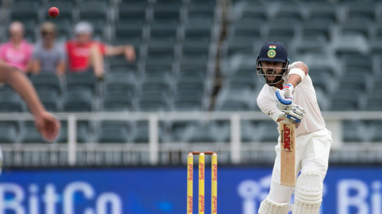 Virat Kohli plays a shot at the Third Test match between India vs South Africa at the Wanderers Stadium, Johannesburg, South Africa (REUTERS)