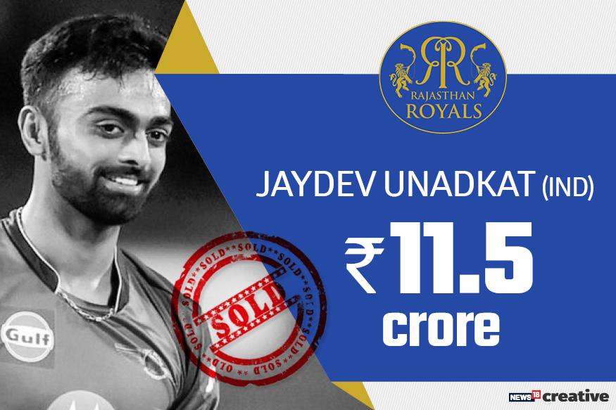 Jaydev Unadkat| Team: Rajasthan Royals | Sold for: Rs 11.5 crore