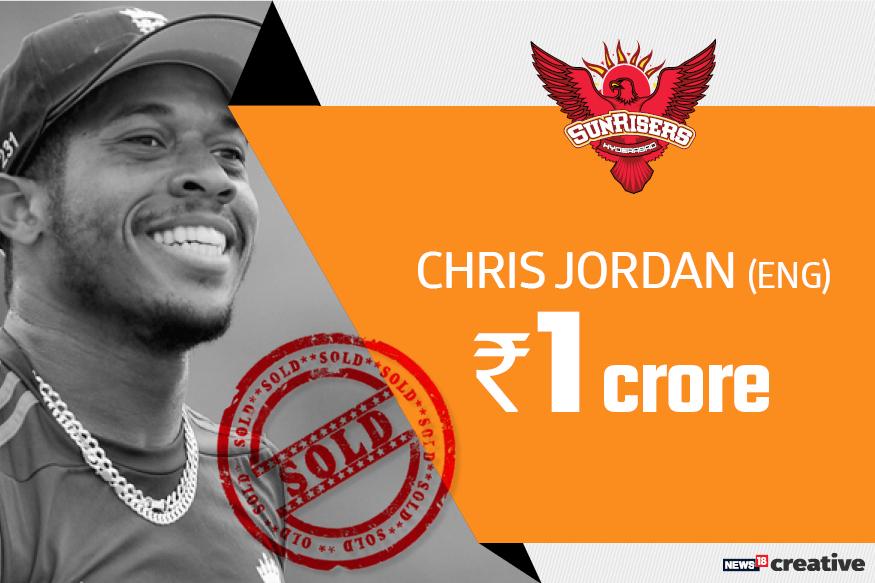 Chris Jordan | Team: Sunrisers Hyderabad | Sold for: Rs 1 crore