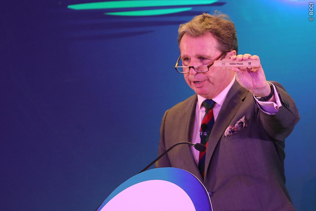 Auctioneer Richard Madley during the Indian Premier League (IPL) auction held at the ITC Gardenia hotel in Bangalore on the 27th January 2018 | Image courtesy: IPLT20.com (BCCI)