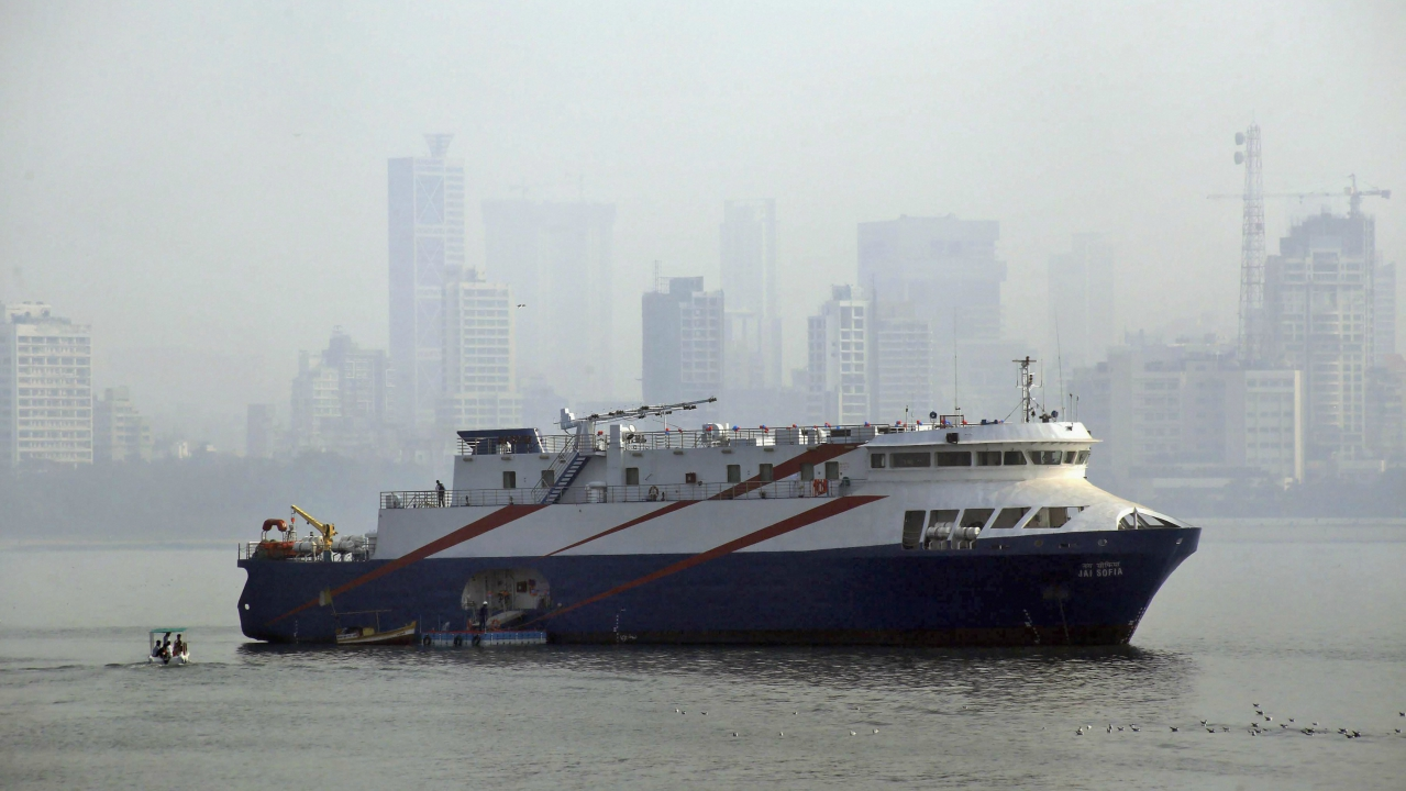 SSR Marine Services during the launch of Harbour Cruise Ship which promises a never before experience of sailing at Mumbai shoreline on Wednesday. (PTI)