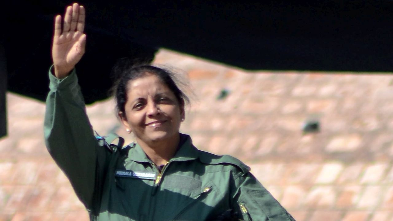 "The country's first woman defence minister described the 30-minute sortie as ""wonderful"". (PTI)"
