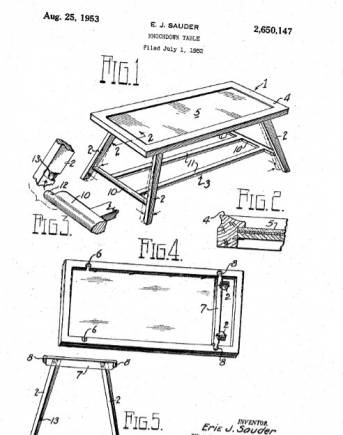 Answer 14: Erie J. Sauder came up with the first flat pack or ready to assemble furniture. He discussed the idea with his employers at IKEA, who went on to build their entire business around this model.