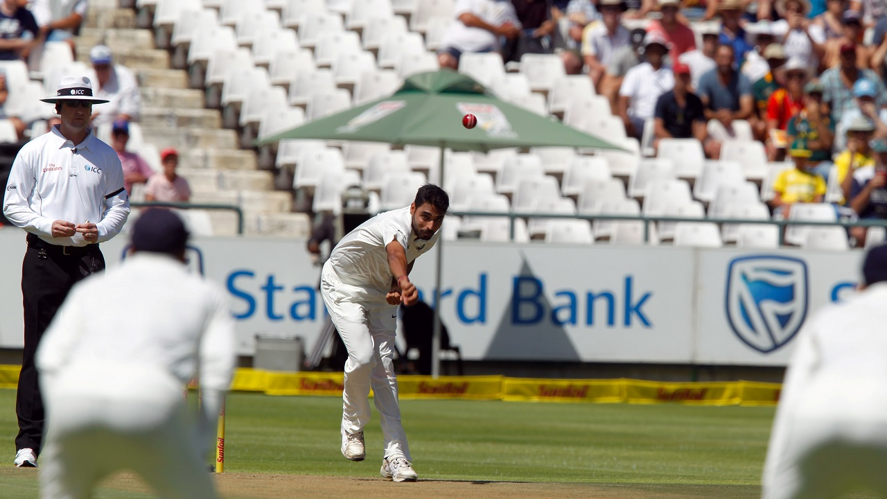 Bhuvneshwar Kumar | Kumar picked six wickets in the match, striking to remove the Proteas openers and Hashim Amla in quick succession in the first inning to give India a head-start. He also claimed Quinton de Kock's wicket at a important juncture in the inning. He also scored crucial 25 and remained 13 not out in the two innings, giving India hope. (Image: Reuters)