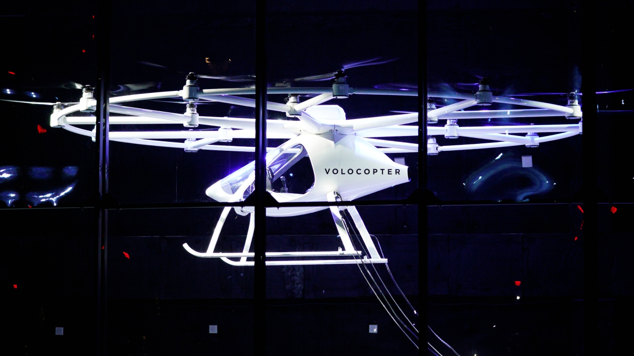 The Volocopter, built by a Germany-based company, was launched in 2012. The craft's first flight took off in 2013. (Reuters)