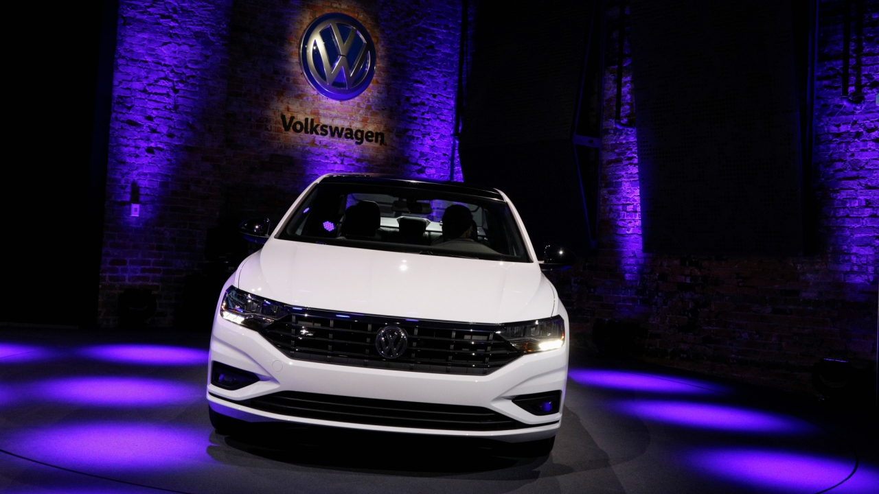 The 2019 Volkswagen Jetta is unveiled during a launch event at the North American International Auto Show in Detroit, Michigan, US. (Reuters)