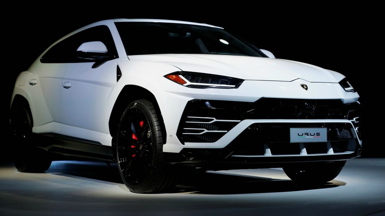 Lamborghini presents the Urus SUV at a news conference at the Museum of Contemporary Art Detroit, during the North American International Auto Show in Detroit, Michigan, US. (Reuters)