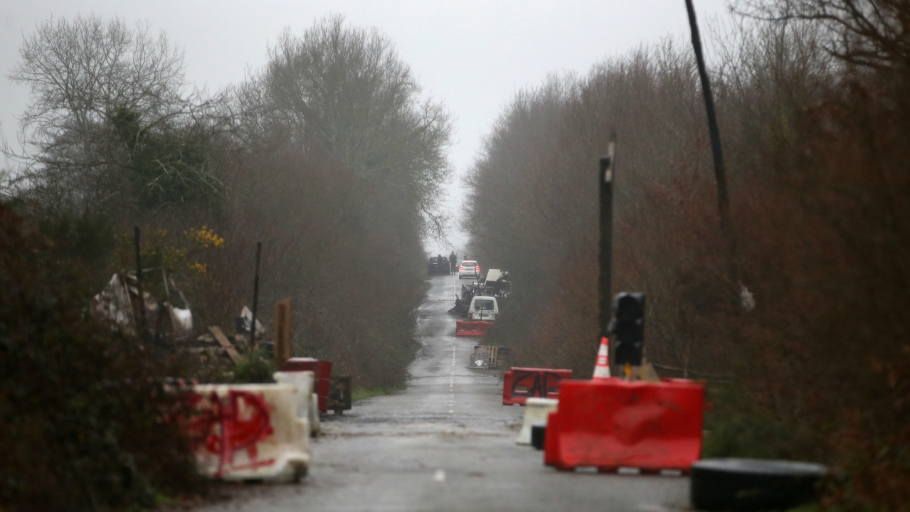 General view of the RD281 road in the zoned ZAD (Deferred Development Zone) in Notre-Dame-des-Landes, after the French government's official announcement to abandon the Grand Ouest Airport (AGO) project in the area, near Nantes, France. (Reuters)