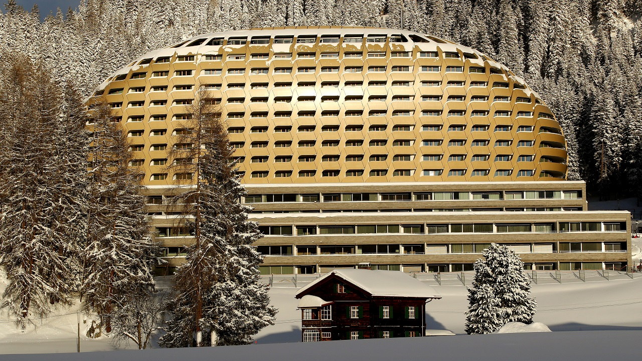 A general view shows the InterContinental hotel in the Swiss Alps resort of Davos, Switzerland. (Reuters)