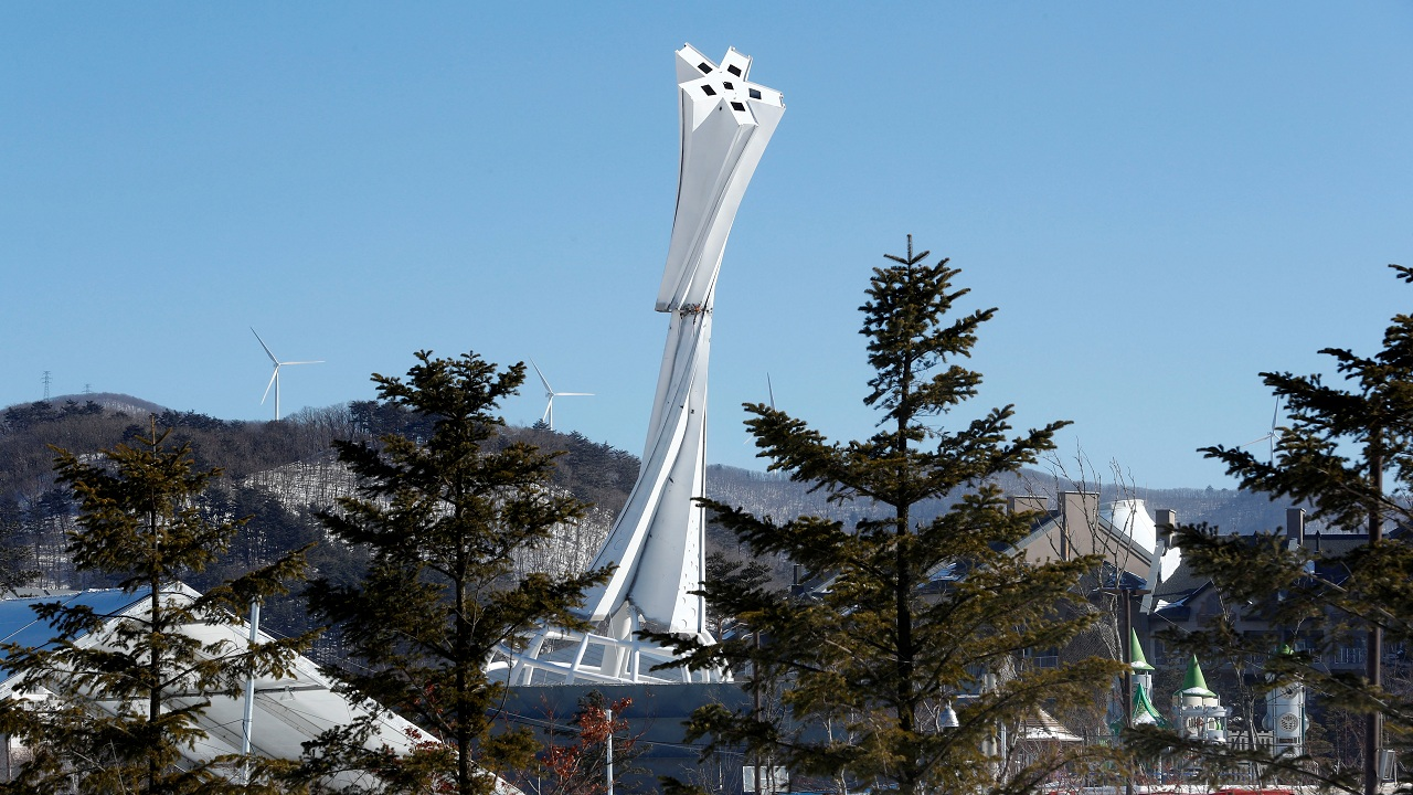 The Olympic Cauldron for the upcoming 2018 Pyeongchang Winter Olympic Games is pictured at the Alpensia resort in Pyeongchang, South Korea. (Reuters)