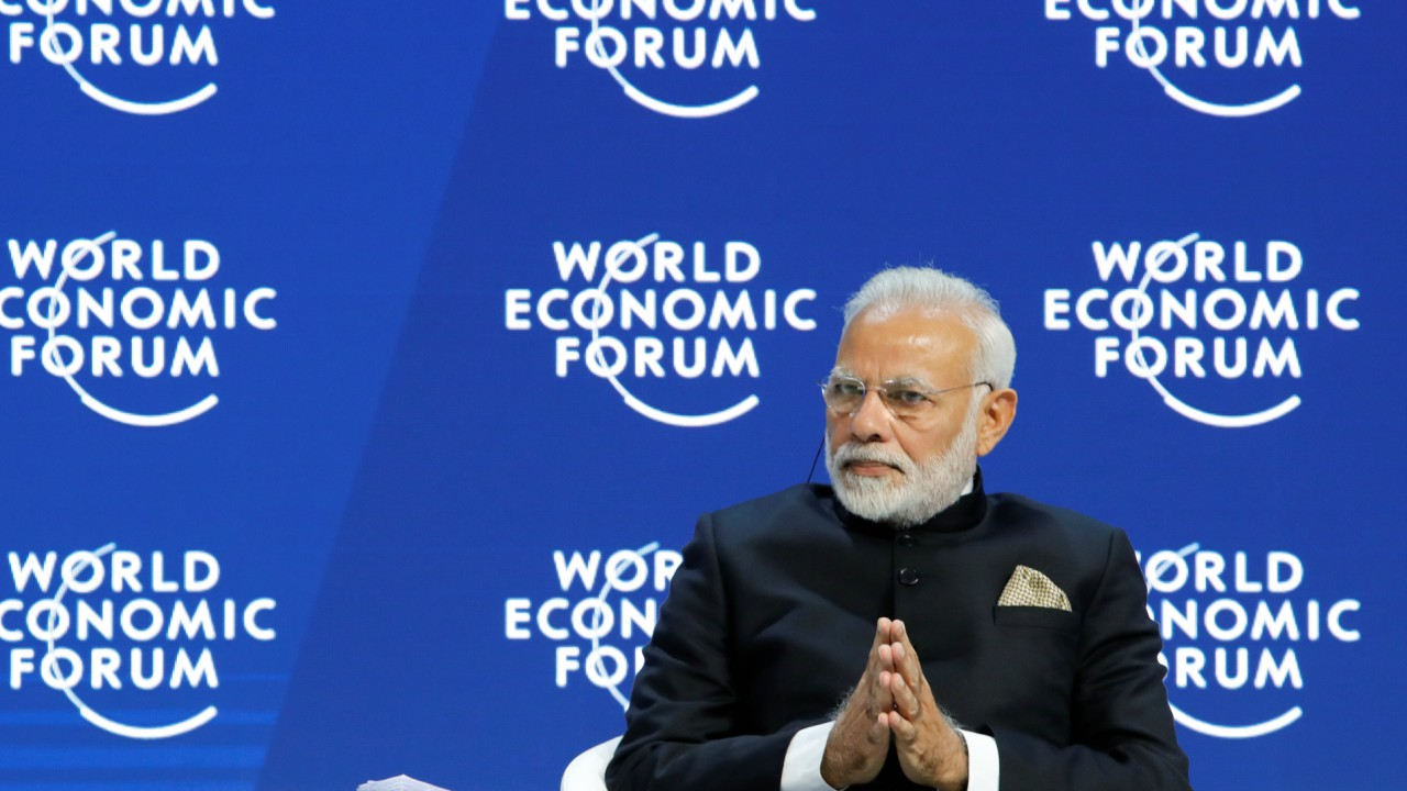 "Modi stated that India can play a crucial role in being a ""humanising and harmonious force"", which reflects in India's literature, poetry and songs."