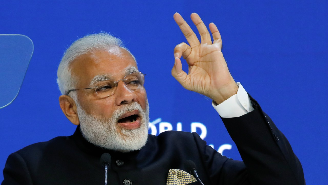 """By the year 2022 in India, we want to produce 175 gigawatts of renewable energy. This is a very big target for a country like India. And in the last three years approximately, we have achieved 60 gigawatts, that means a third of our objective has already been achieved by us,"" said Modi."