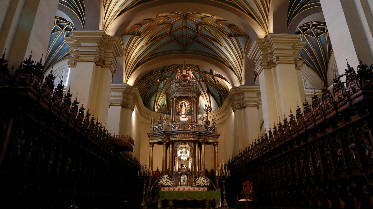A general view of the inside of Lima's Cathedral in downtown Lima, Peru. (Reuters)