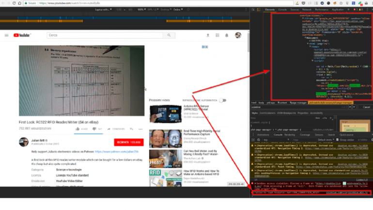Cyptocurrency miners used YouTube ads to drain CPU power off of visitors
