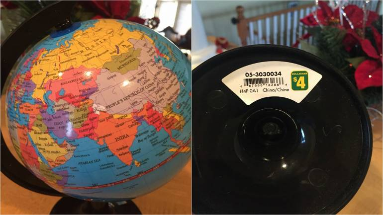 China made globes sold in canada shows jammu and kashmir separate prominent retailer costco too was found to be selling a made in china globe that omitted jammu and kashmir and arunachal pradesh from the map of india gumiabroncs Choice Image