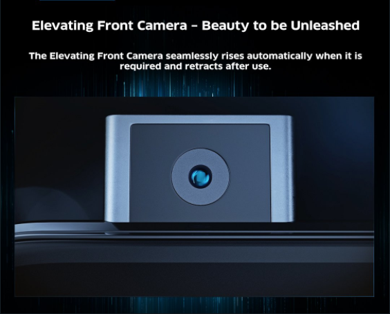 Pop-up Camera | Vivo has introduced a pop-up front camera. The camera remains hidden under the display for most part and slides up under a second while clicking selfies. (Image: Vivo)