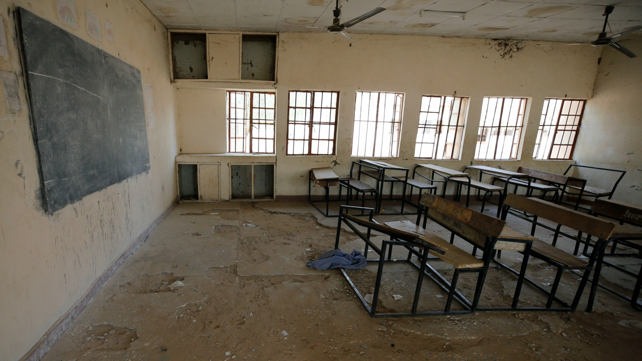 A view shows an empty classroom at the school in Dapchi in the northeastern state of Yobe, where dozens of school girls went missing after an attack on the village by Boko Haram, Nigeria. (REUTERS)