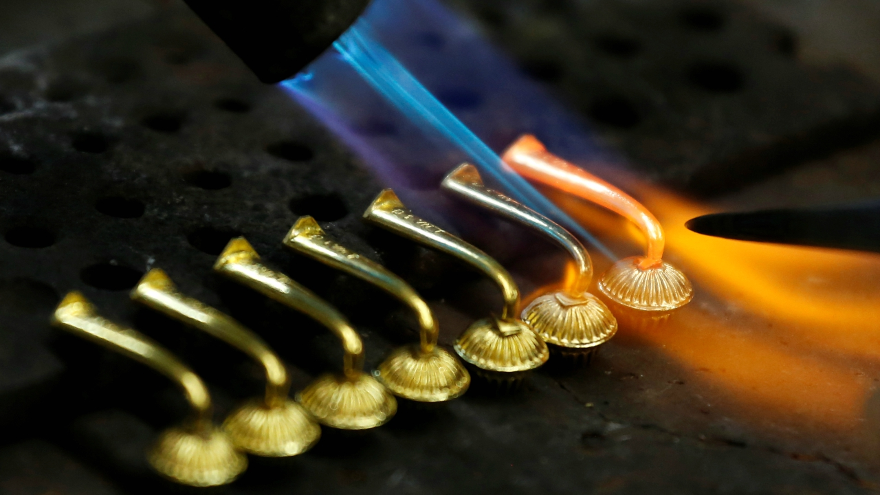 Around half of all gold mined today is made into jewellery, which remains the single largest use for gold. (Reuters)